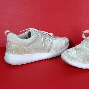 Metallic Velvet Glitter Sneakers 39 8.5 Velour